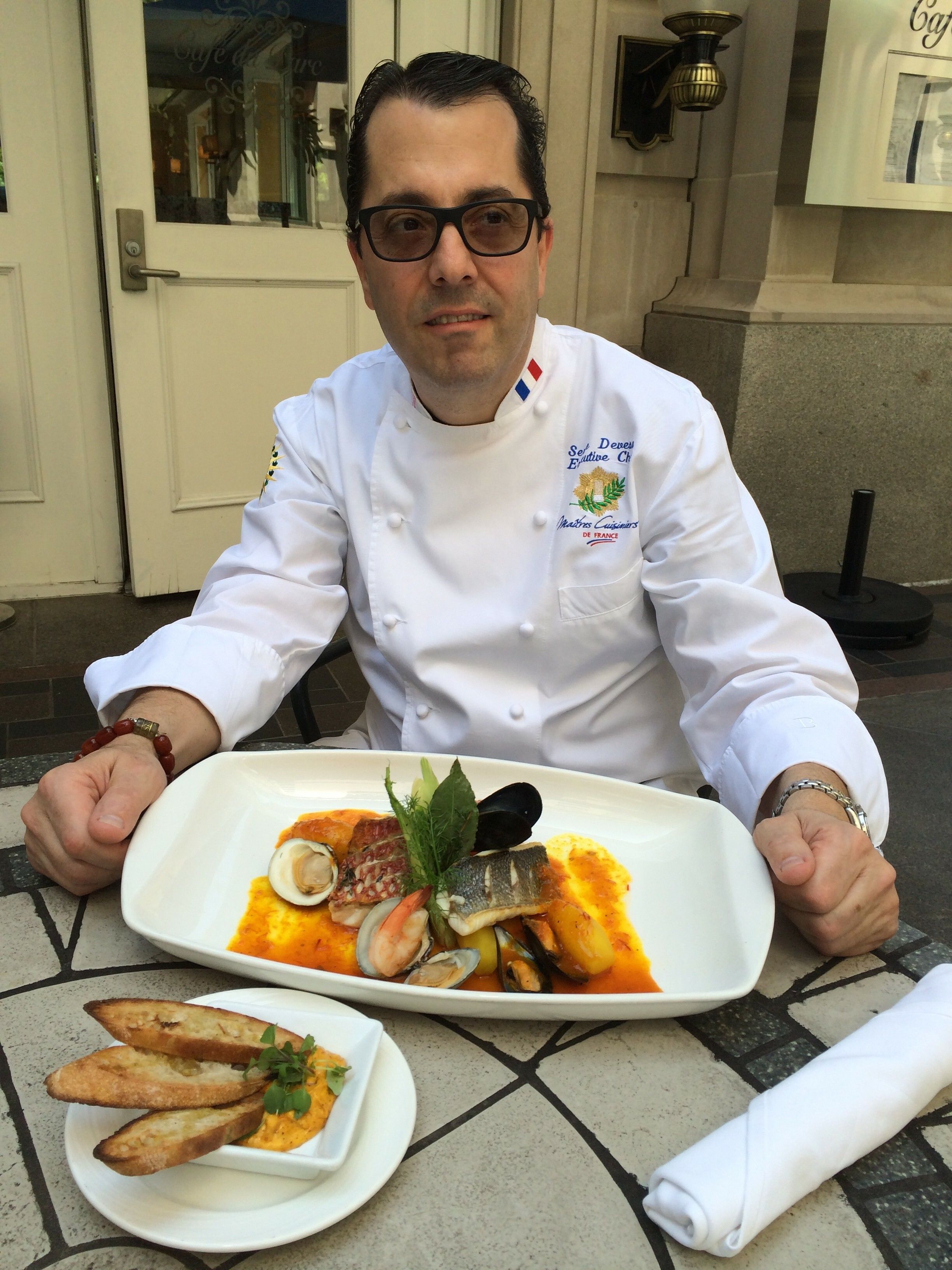 Master Chef of France Serge Devesa with his famed Bouillabaisse